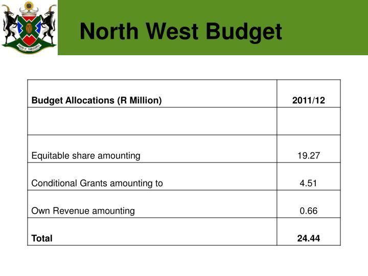 North West Budget