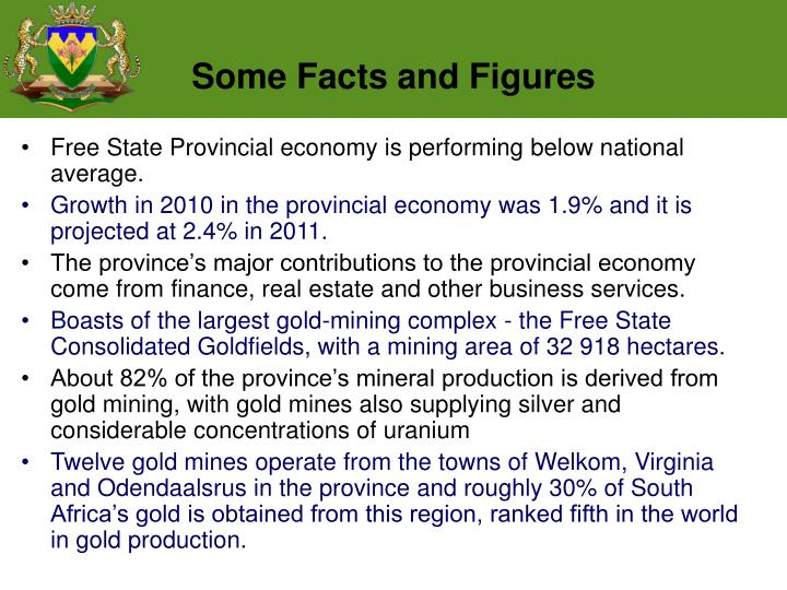 Free State Provincial economy is performing below national average.