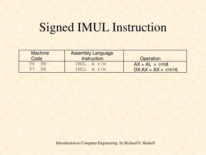Signed IMUL Instruction