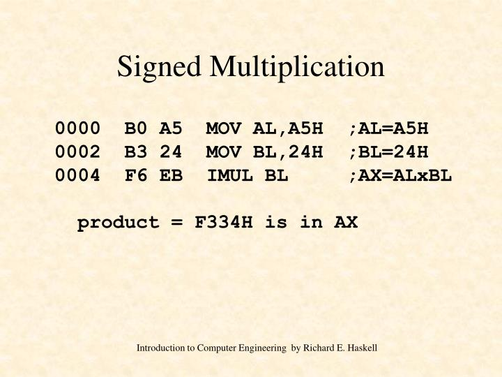 Signed Multiplication
