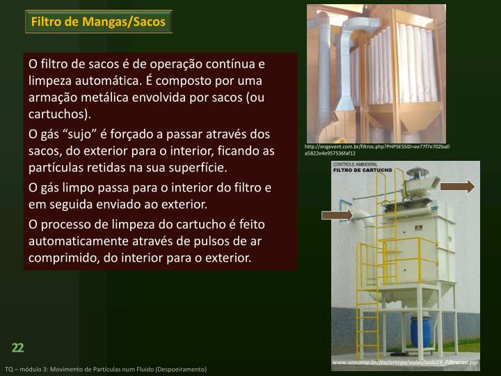 Filtro de Mangas/Sacos