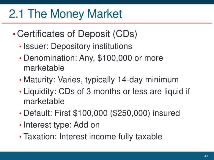 2.1 The Money Market