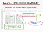 evaluation cve 2006 3082 gnupg 1 4 3