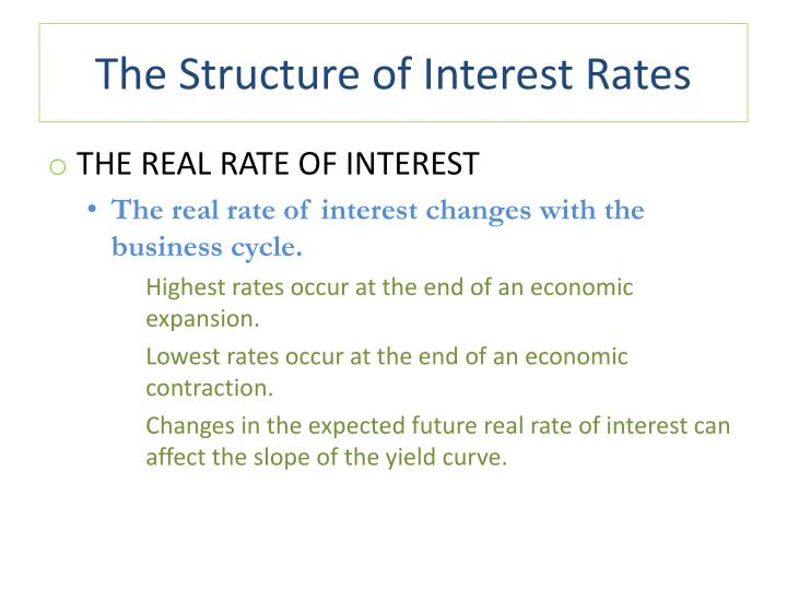 The Structure of Interest Rates
