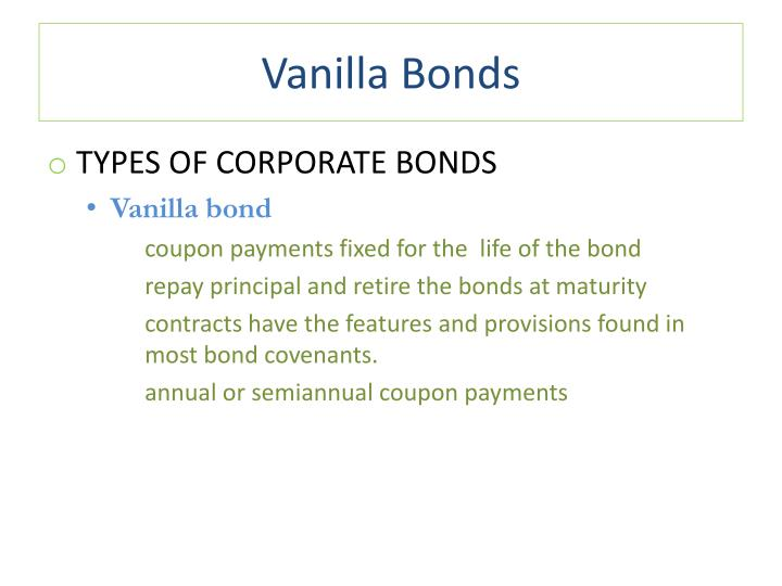 Vanilla Bonds