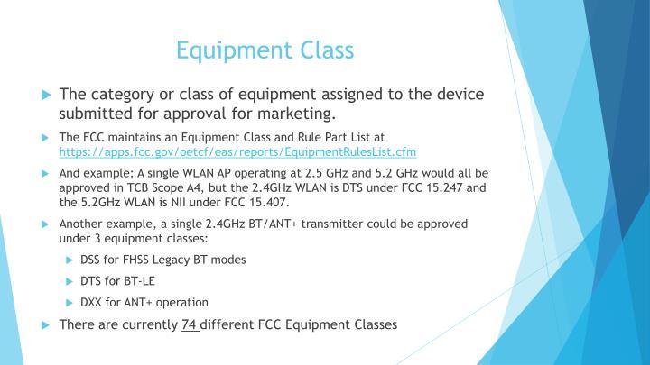 Equipment Class