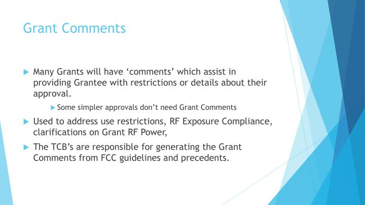 Grant Comments