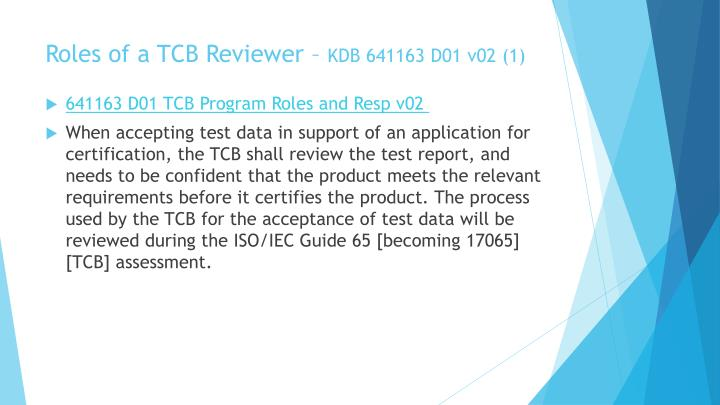 Roles of a TCB Reviewer –