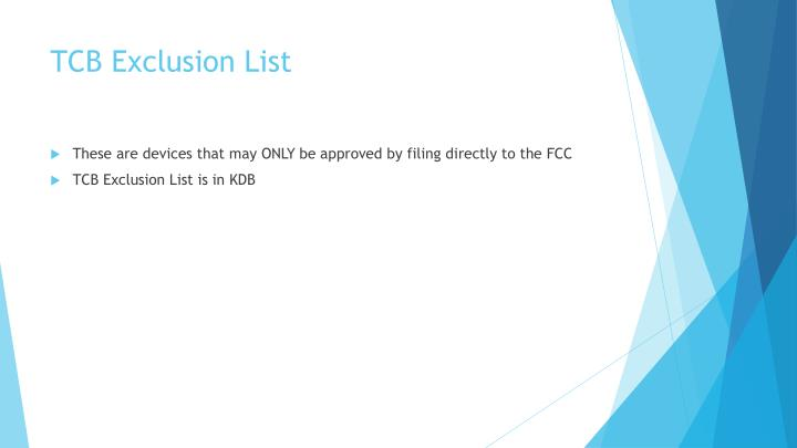 TCB Exclusion List