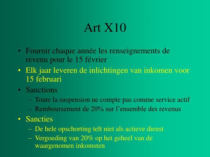 Art X10