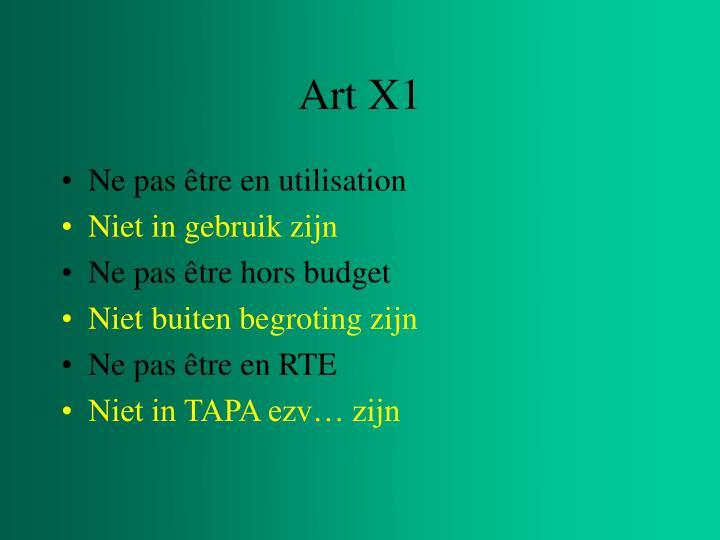Art X1