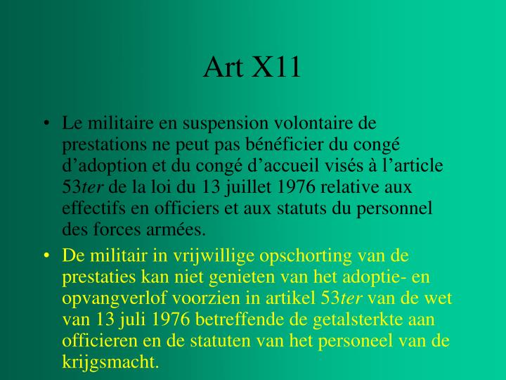 Art X11