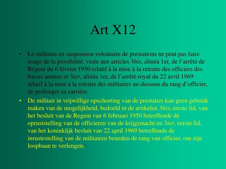 Art X12