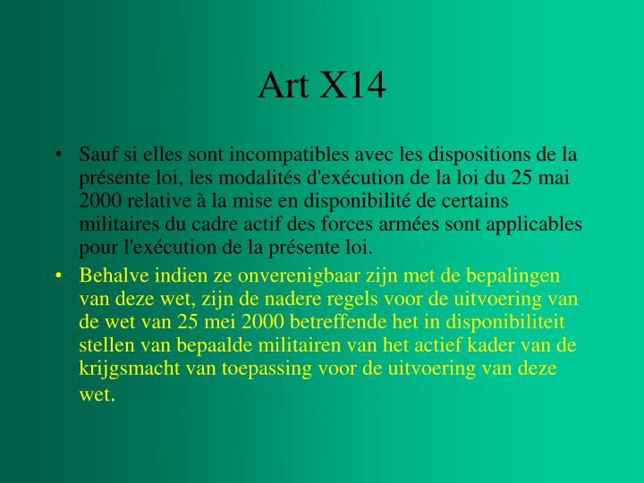 Art X14
