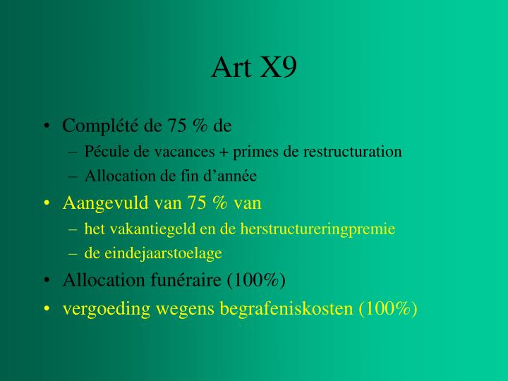 Art X9