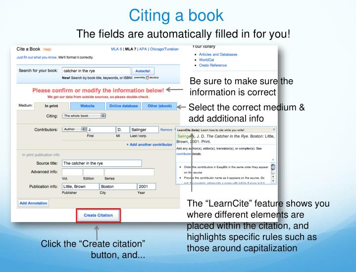 Citing a book