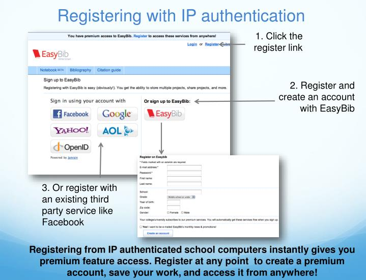 Registering with ip authentication