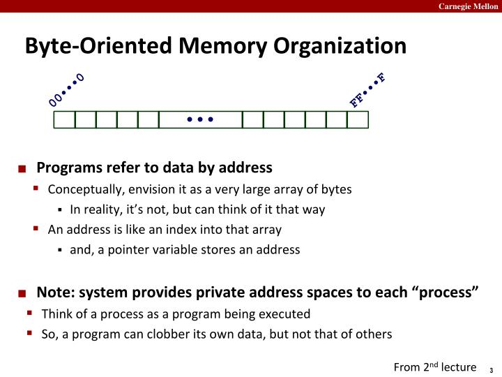 Byte oriented memory organization