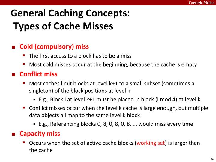General Caching Concepts: