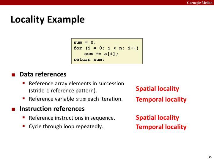 Locality Example
