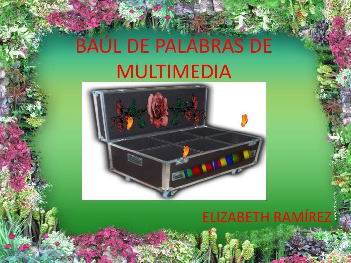 BAÚL DE PALABRAS DE MULTIMEDIA