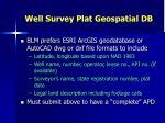 well survey plat geospatial db1
