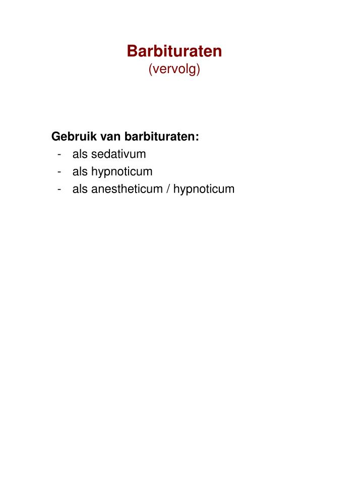 Barbituraten