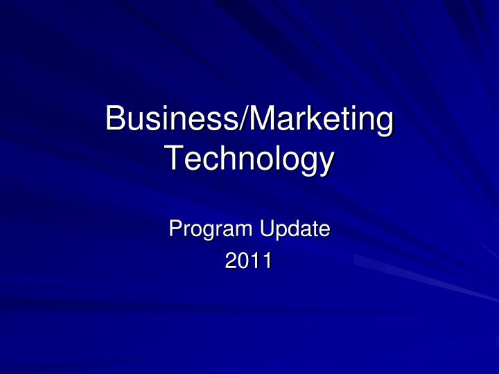 Business marketing technology