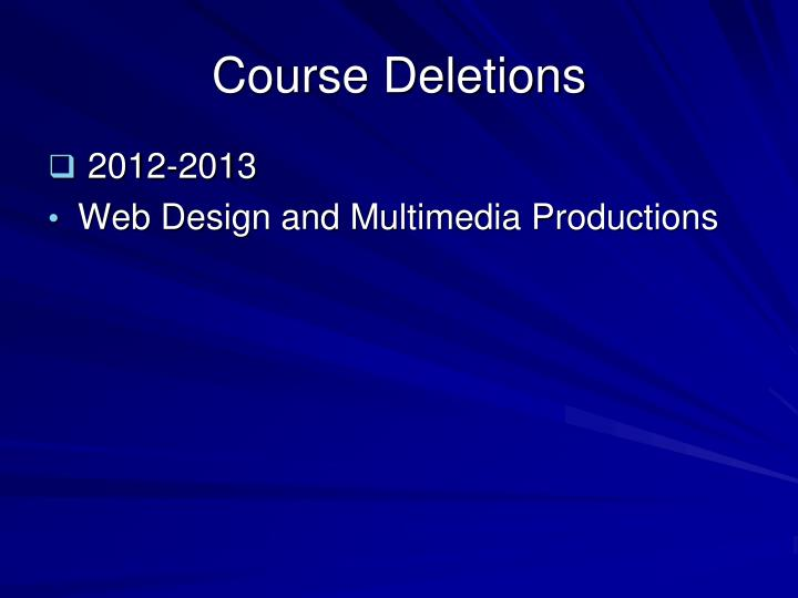 Course Deletions