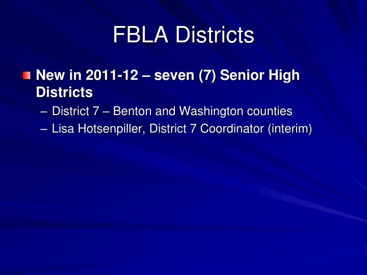 FBLA Districts