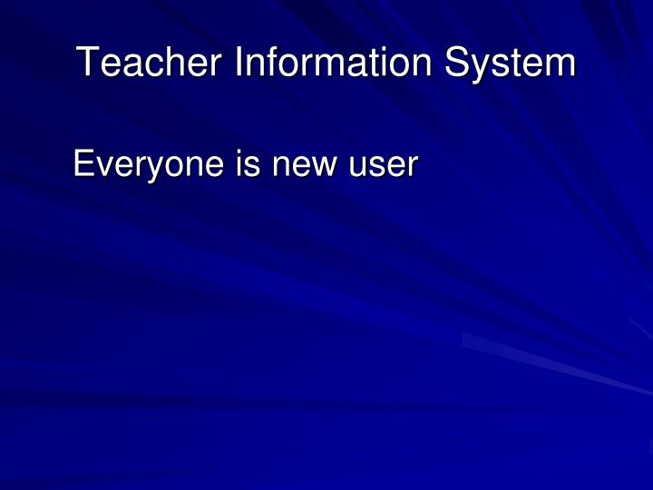 Teacher information system