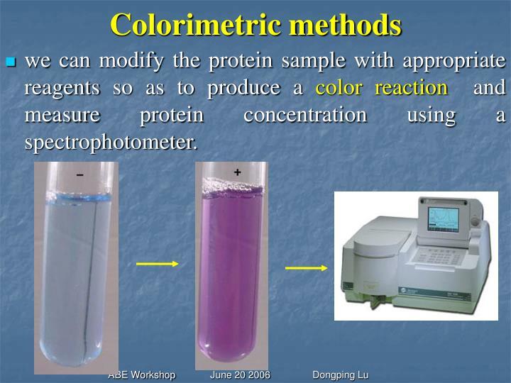 Colorimetric methods