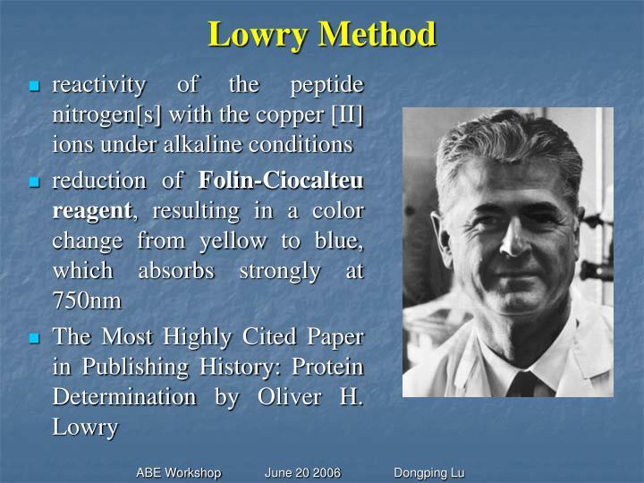 Lowry Method