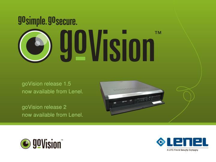 goVision release 1.5