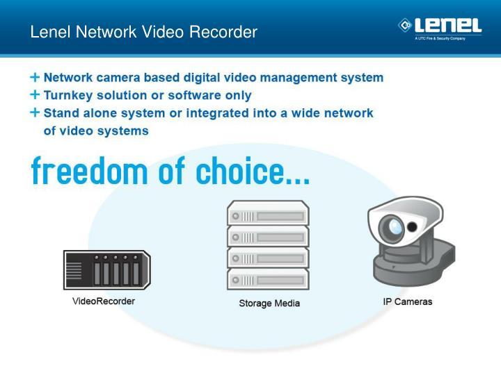 Lenel Network Video Recorder