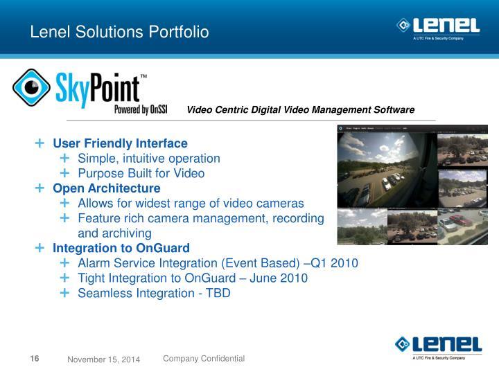 Lenel Solutions Portfolio