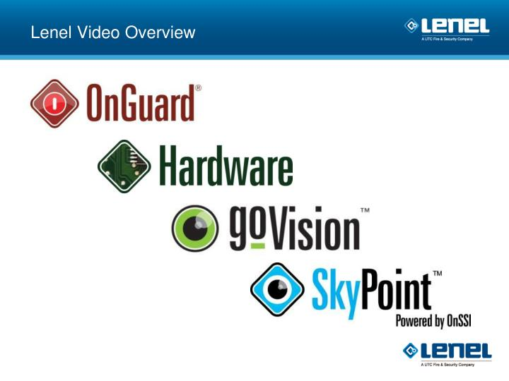 Lenel Video Overview