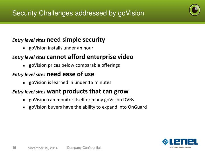 Security Challenges addressed by