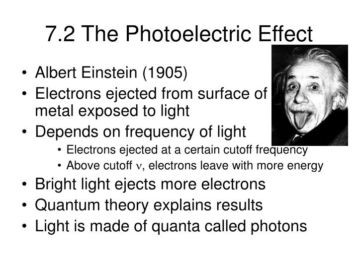 7.2 The Photoelectric Effect