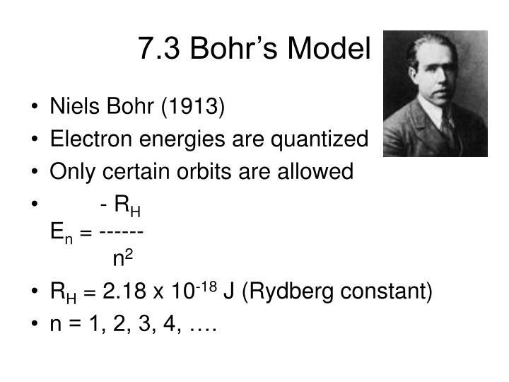 7.3 Bohr's Model