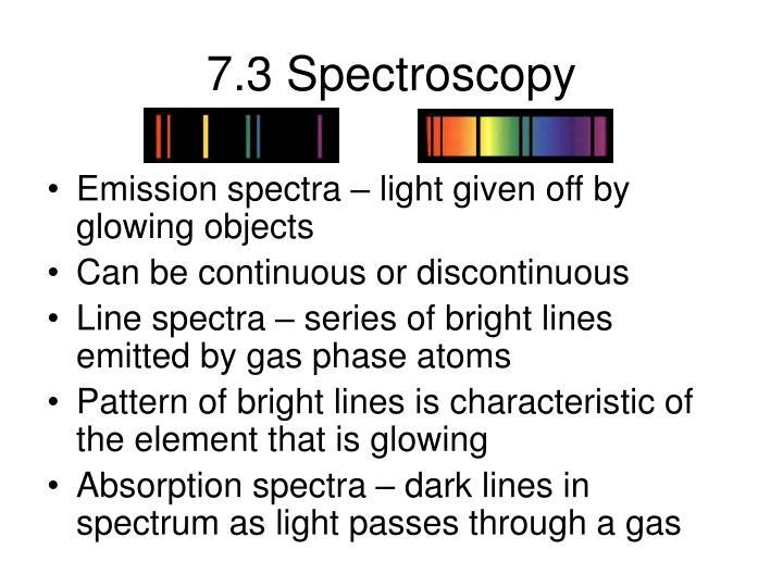 7.3 Spectroscopy