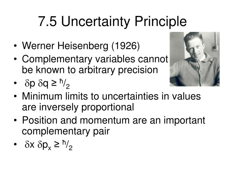 7.5 Uncertainty Principle