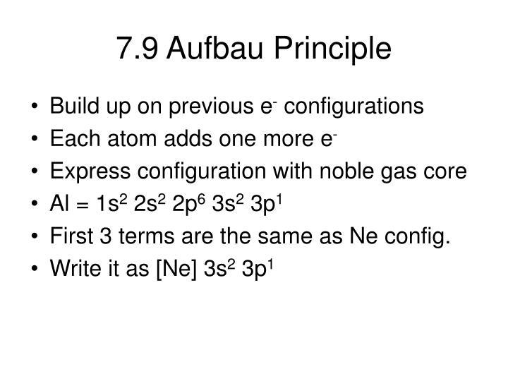 7.9 Aufbau Principle