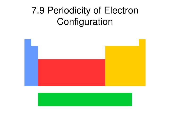 7.9 Periodicity of Electron Configuration