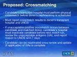 proposed crossmatching