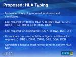 proposed hla typing