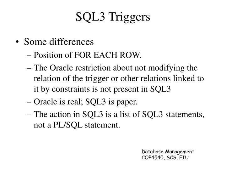 SQL3 Triggers