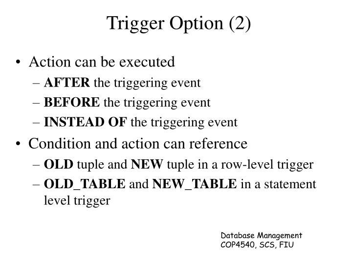 Trigger Option (2)