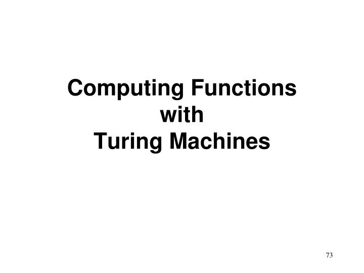 Computing Functions