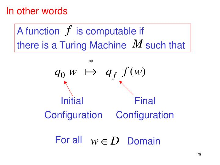 A function      is computable if